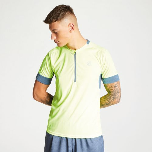 Dare2b Men's Equall Cycle Jersey Fluro Yellow